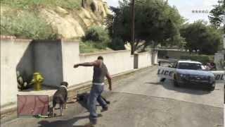 gta 5  chien d attaque vs police fun