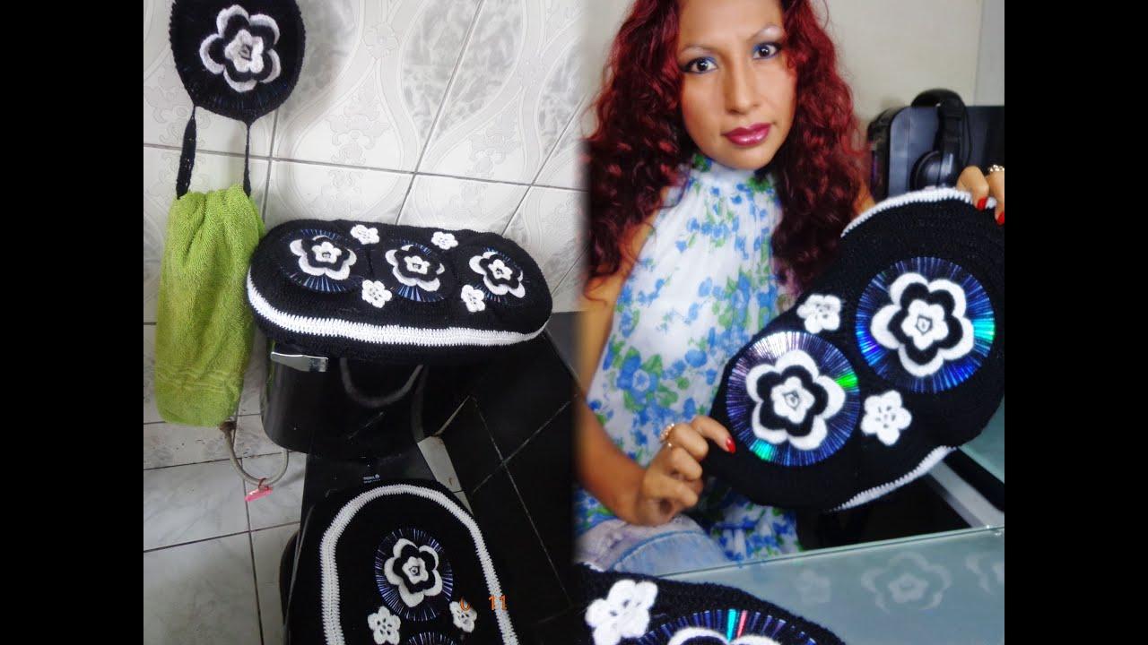 Set De Baño Tejido En Crochet Paso A Paso:Manualidades Con Papel De Bano