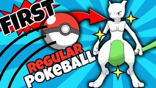SHINY MEWTWO CAUGHT IN THE FIRST REGULAR POKEBALL THROWN?! Shiny Mewtwo Reaction