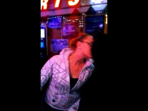 My girlfriend kissing a stripper