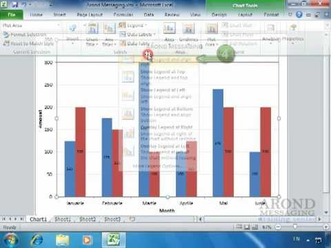 how to add legend in excel 2010