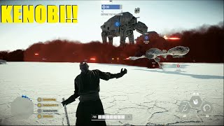 Star Wars Battlefront 2 - Darth Maul Screams quotKENOBI!quot and Kenobi responds! New Maul Emote!