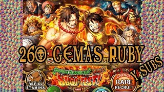 LUFFY - ACE SUGOFEST 260 GEMAS PARTE 1 | One Piece Treasure Cruise GLOBAL