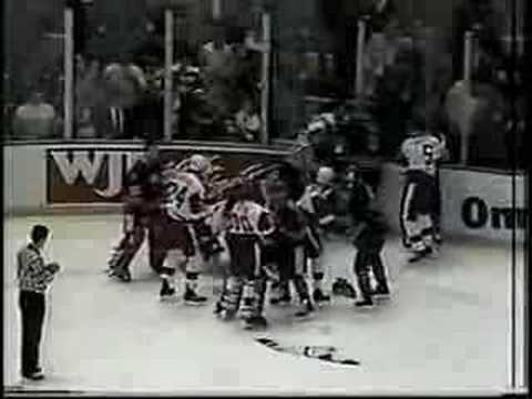 Steve Yzerman Fight Against Maguire Video