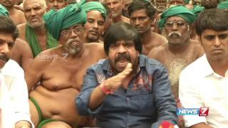 T. Rajendar's speech at farmers protest in Delhi | News7 Tamil