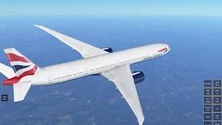 Infinite Flight Global Boeing 777-300ER New York - London Shaky Cam, Expert server