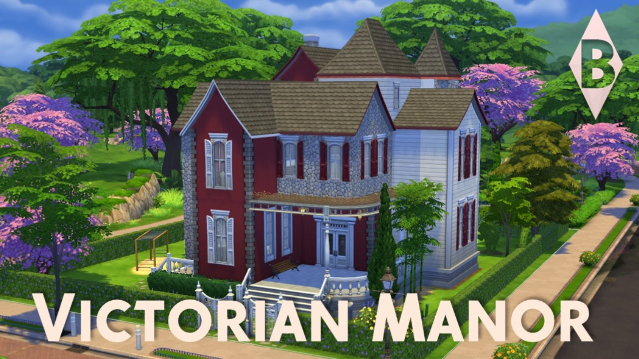 The Sims 4 House Building Victorian Manor YouTube