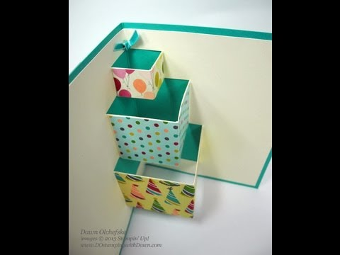 Pop Up Birthday Cake Card With Dawn