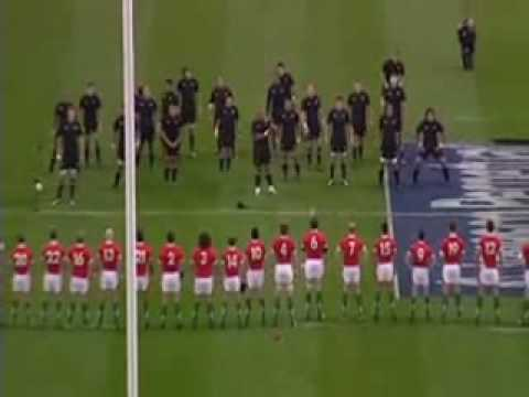 The Wales Haka stand-off