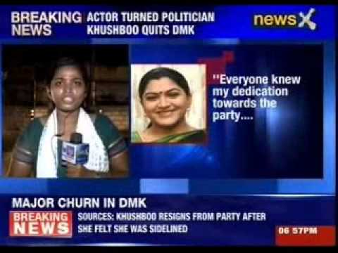 Actor turned politician Khushboo quits DMK