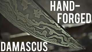 Forging A Damascus Knife Completely By Hand