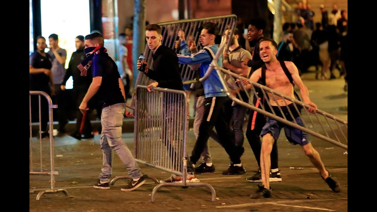 World Cup: French celebrations turn violent as fans clash with police in Paris