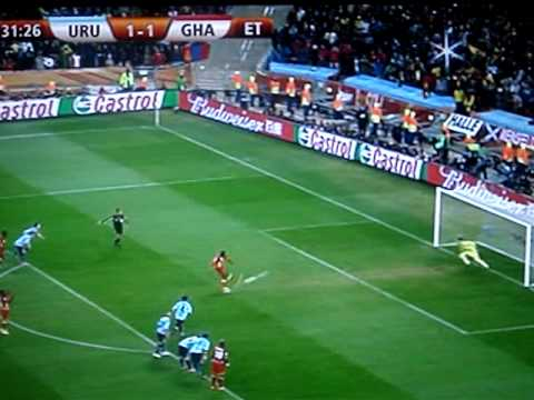 Asamoah Gyan Penalty Miss Quarter Finals 2 July 2010