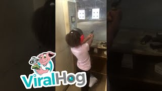 Kids Learn to Shoot at Gun Range