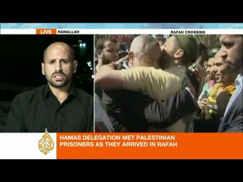 Palestine prisoner returns to hero's welcome