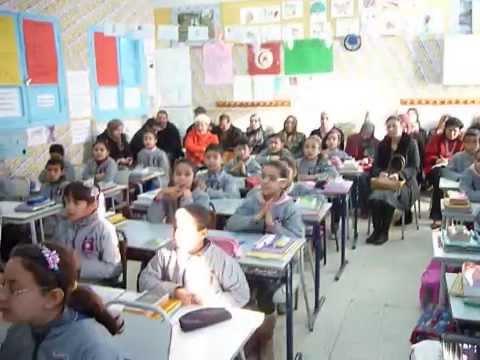 Les élèves de la 4 éme année a - ecole la republic bembla monastir