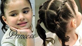 Peinado Infantil de Ligas FACIL  | Toddler hairdo for little girsl 2-6 years EASY