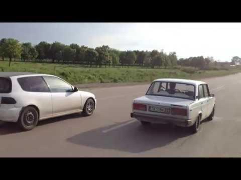 Lada 2107 Turbo vs Honda Civic B18 with mods Race 2