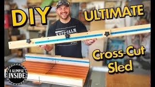 How To Make the Ultimate Crosscut Sled   Woodworking Project In the Comfort of the NewAir AC-14100H
