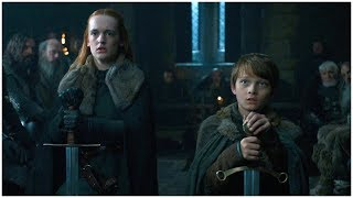 Game of Thrones S7E1 - Umber and Karstark reaffirm their loyalty to House Stark