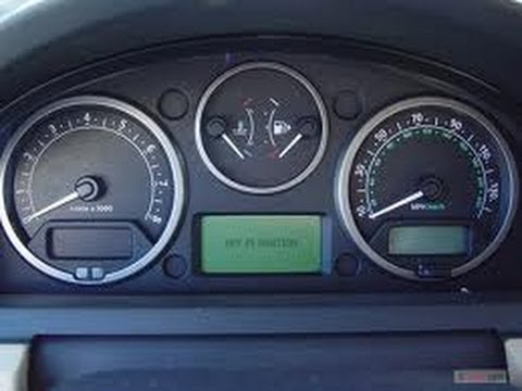 HOW TO RESET OIL LIGHT 2007-09 LAND ROVER LR3