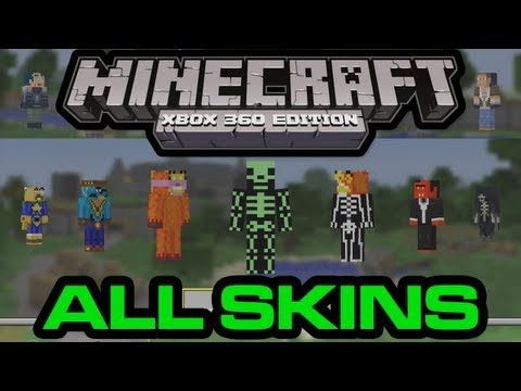All Minecraft Xbox 360 Edition Skins and Skin Packs