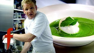 Gordon Cooks Watercress Soup Finished With A Poached Egg | The F Word