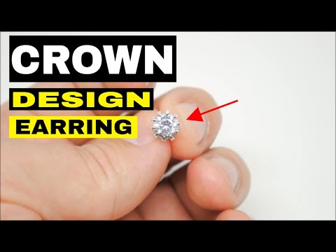 Stud Earrings Crown Design for Women
