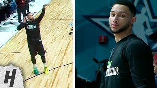 Everyone Is Shocked at Ben Simmons Hitting Threes | 2019 NBA All-Star Rising Stars Practice