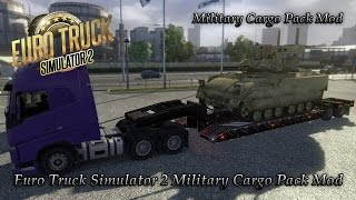 Euro Truck Simulator 2 Awesome Military Cargo Pack Mod! (PC Download)