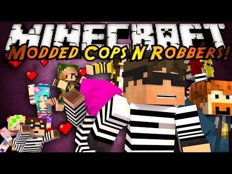 Minecraft Mini Game : MODDED COPS N ROBBERS GIRLFRIENDS