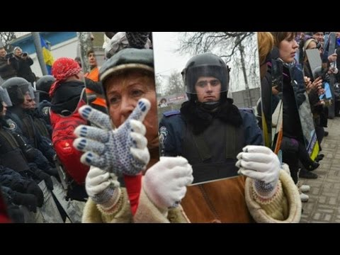 Ukraine Protesters Turn Mirrors On Police