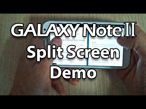 Samsung Galaxy Note 2 Split Screen Demo