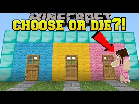 Minecraft: CHOOSE RIGHT OR DIE?!? - CASUAL BUTTONS 2 - Custom Map
