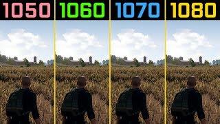 PUBG GTX 1050 Ti vs. GTX 1060 vs. GTX 1070 vs. GTX 1080