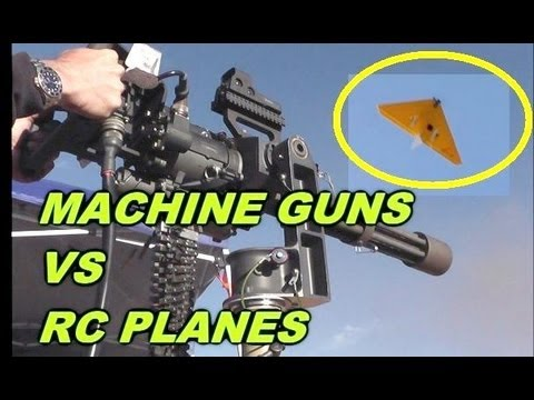 Machine Guns vs DRONES  - Crazy!
