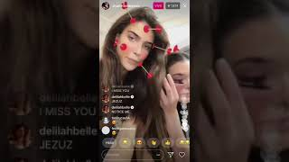 Charlotte D'Alessio and Charlotte Lawrence Instagram LiveStream