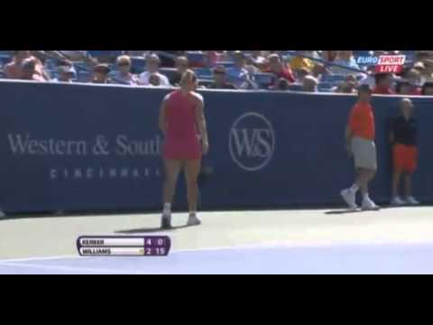 Angelique Kerber vs Serena Williams 6-4 Quarter Finals Masters Cincinnati 17 08 2012