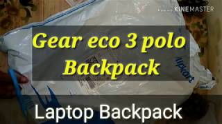 Gear Eco 3 polo Laptop Backpack 25 L Laptop Backpack : Unboxing & Review