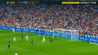Real Madrid Barcelona Super Cup Benzema INCREDIBLE GOAL HD 16/08/2017