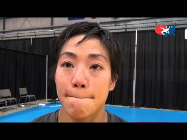 Clarissa Chun (USA) after her competition at 48 kg at 2012 Women's Worlds
