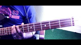 Dansaki - Lara George Bass Guitar Tutorial by David Oke (AGS)