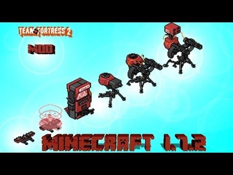 MINECRAFT   REVIEW DEL MOD TEAM FORTRESS 2 (TELEPORTS. DISPENSADORES Y TORRETAS)!!