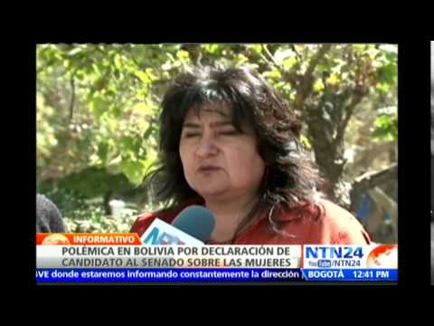 Candidato senador boliviano señala que mujeres que 'visten provocativas' se exponen al delito