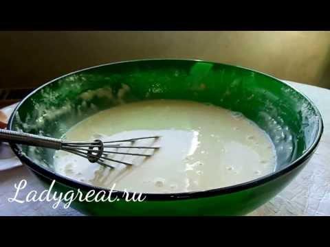 Простой рецепт тонких блинов.Заварные блины.Как приготовить заварные блины.