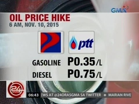24Oras: Presyo ng ilang produktong petrolyo, tumaas