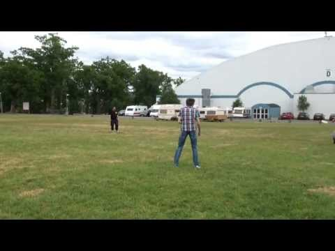 Dendi playing frisbee @ DreamHack Summer 2013