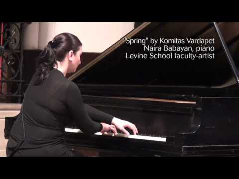 """Garuna"" (Spring) by Komitas, performed by Naira Babayan"