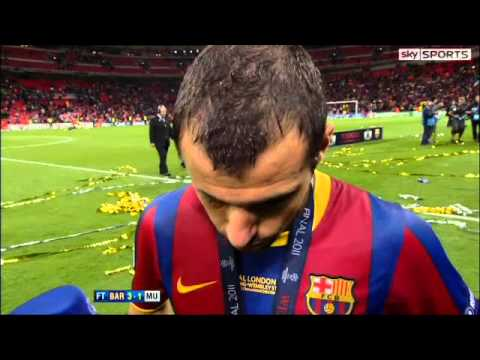 FC  Barcelona vs Manchester United 3-1 | Champions league final 2011 | Mascherano interview