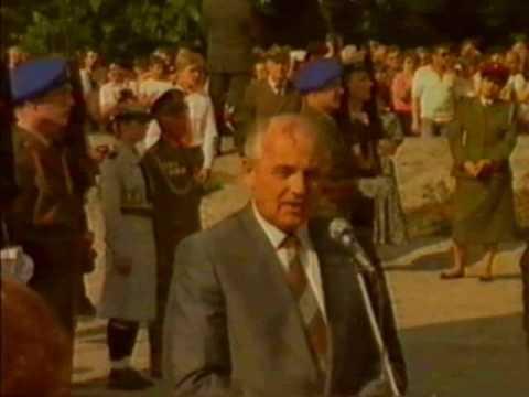 Michaił Gorbaczow W Szczecinie